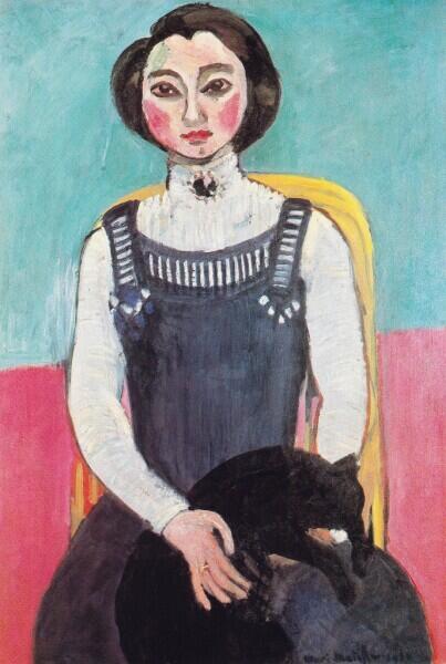 Анри Матисс, «Девушка с чёрной кошкой (Портрет Маргариты)», 1910 г.