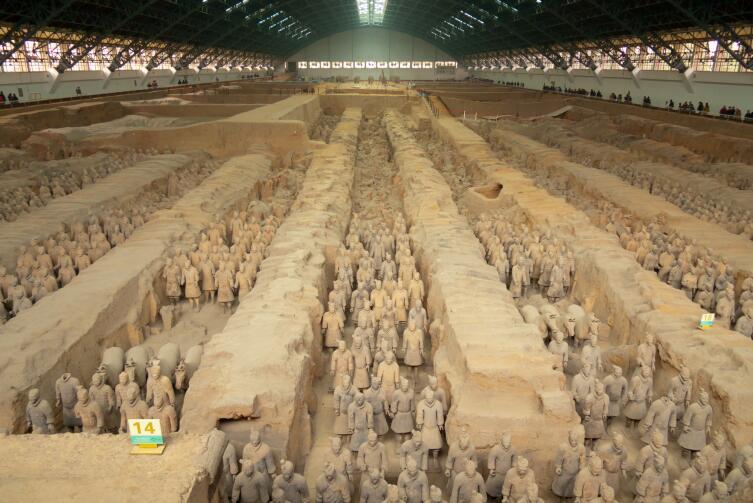 Терракотовая армия в Китае. Место раскопок