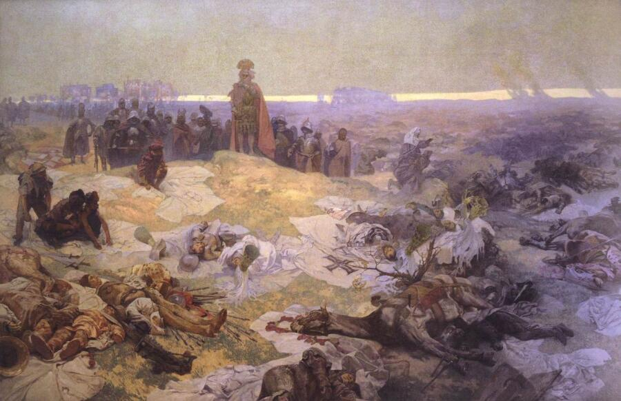 А. Муха, «После Грюнвальдской битвы», 1924 г.