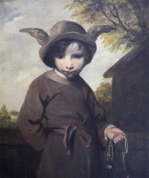 Джошуа Рейнольдс, «Меркурий с украденным кошельком (Портрет юного карманника в образе Меркурия)», 1774 г.