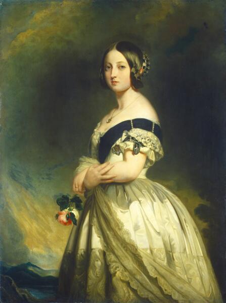 Франц Ксавер Винтерхальтер, «Молодая королева Виктория», 1843 г.