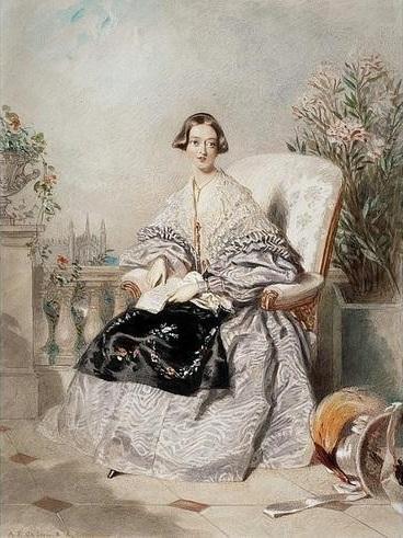 Альфред Эдвард Шалон, «Королева Виктория», 1838 г.