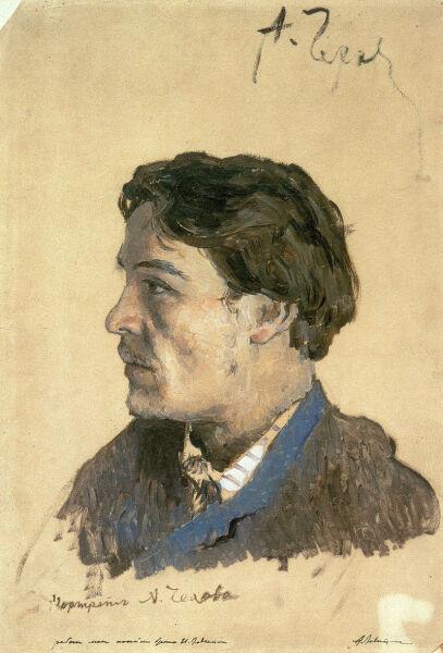 И. И. Левитан, «Портрет А. П. Чехова», 1885—1886 гг.