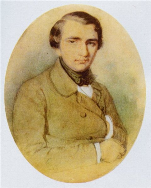 Иван Тургенев в молодости. Рисунок К. А. Горбунова, 1838 г.
