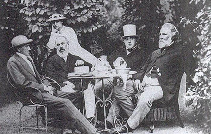 И. С. Тургенев на даче братьев Милютиных в Баден-Бадене, 1867 г.
