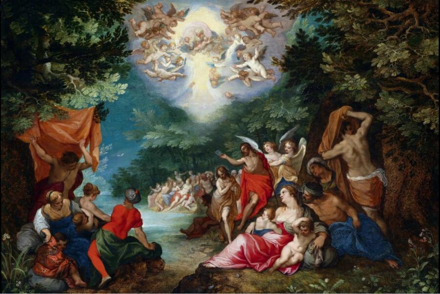 Ян Брейгель Старший совместно с Гансом Роттенхаммером, «Крещение Христово», 1600 г.