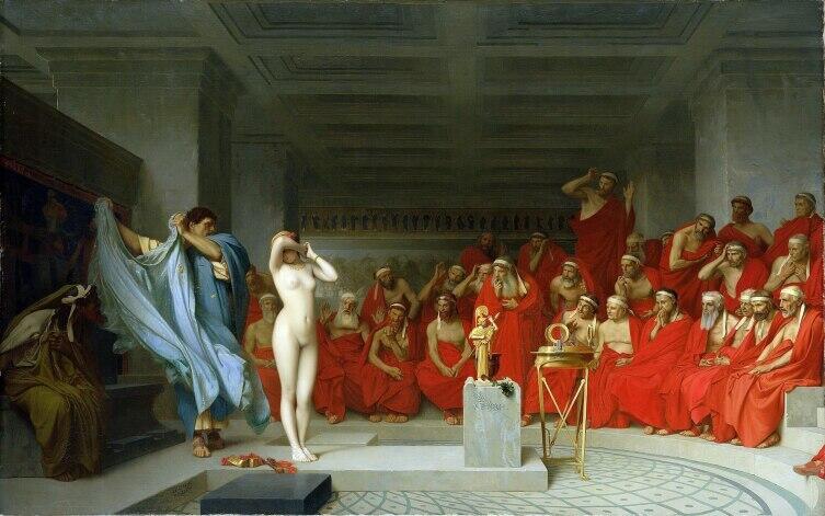 Жан-Леон Жером, «Фрина перед ареопагом», 1861 г.