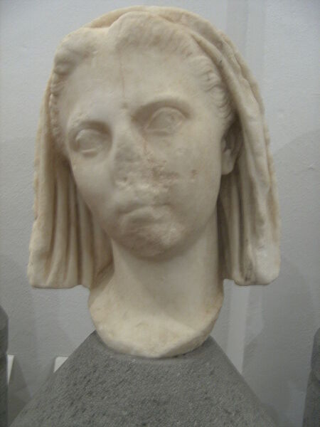 Бюст римской матроны Випсании
