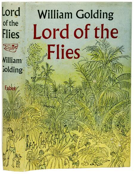 Обложка первого издания романа Уильяма Голдинга «Повелитель мух»