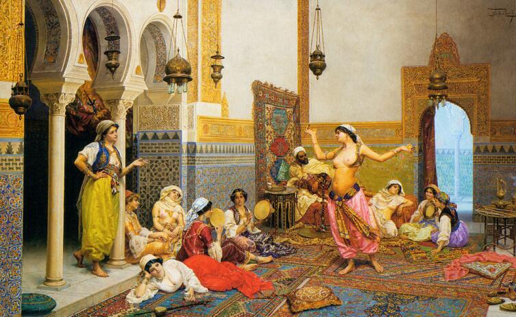 Джулио Розати, «Танцы в гареме»