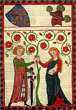 Миниатюра из Манесского кодекса, около 1300 г.