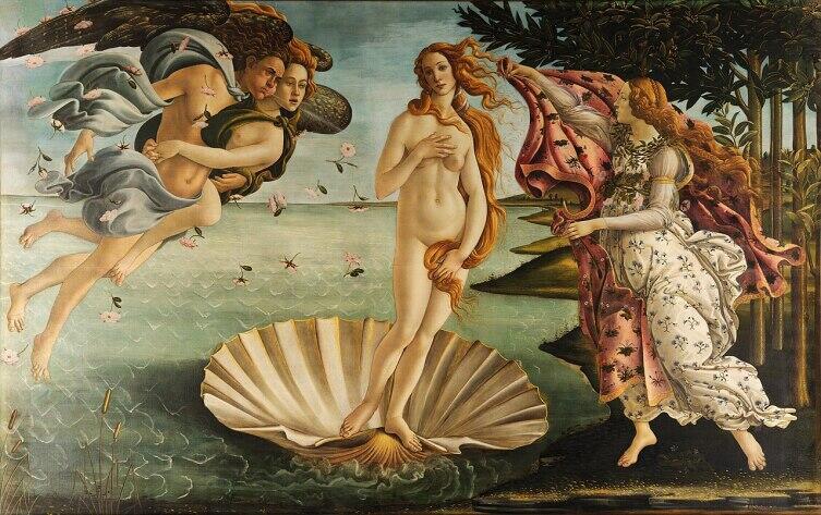 Сандро Боттичелли, «Рождение Венеры», 1482-86 гг.