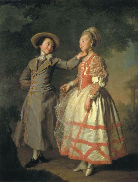Д. Г.Левицкий, «Е. Н. Хрущова и Е. Н. Хованская», 1773г.