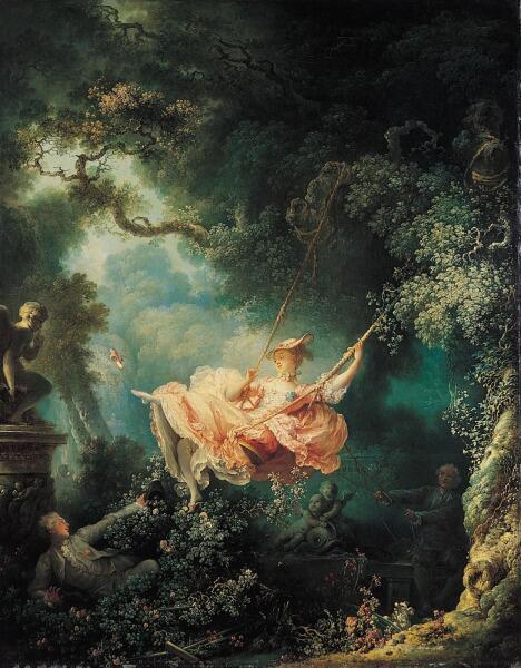 Жан Оноре Фрагонар, «Качели (Счастливые возможности качелей)», 1767 г.