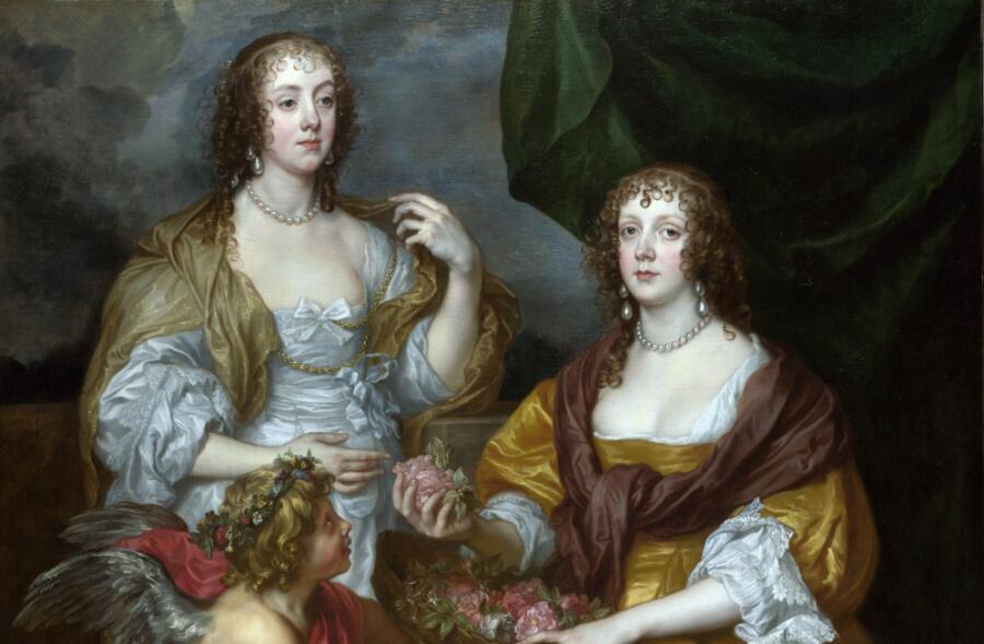 Антонис ван Дейк, «Леди Элизабет Тимбелби и её сестра» (фрагмент), 1637 г.