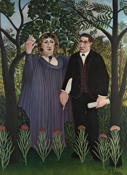 Анри Руссо, «Поэт и Муза», 1909 г.