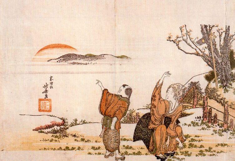 Кацусика Хокусай, «Поэты», 1789 г.