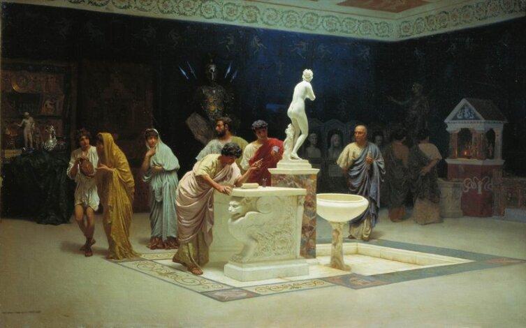 С. В. Бакалович, «В приёмной Мецената», 1890 г.