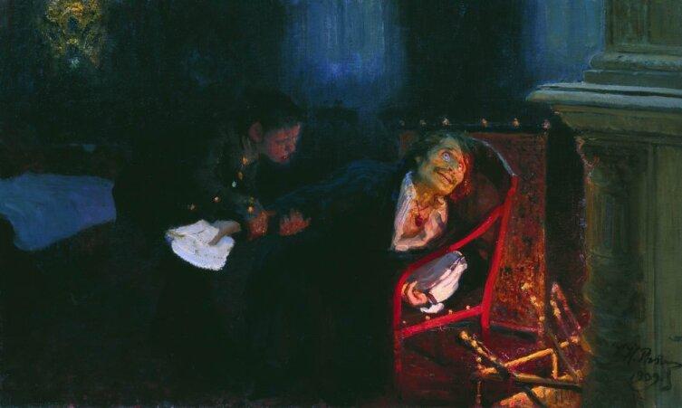 И. Е. Репин, «Гоголь сжигает второй том «Мёртвых душ»», 1909 г.