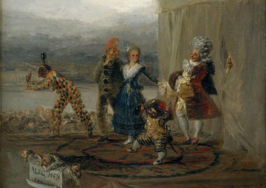 Франсиско Гойя, «Бродячие комедианты» (фрагмент), 1793 г.