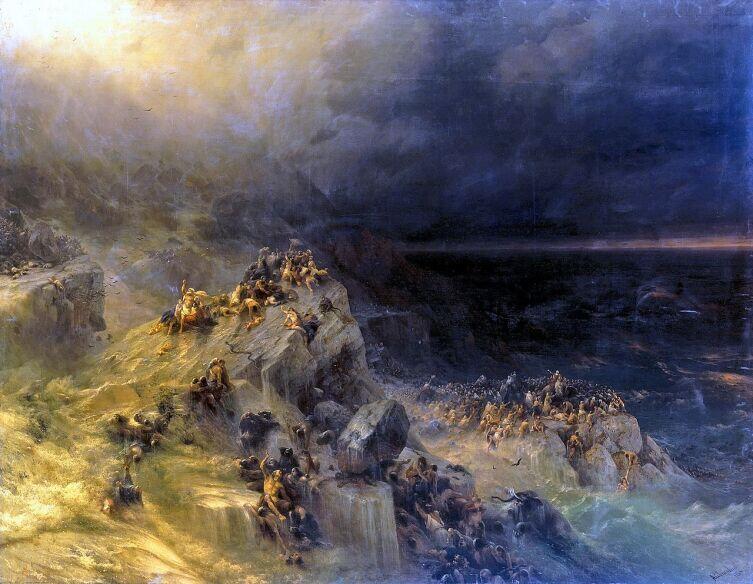 И. К. Айвазовский, «Всемирный потоп», 1864 г.