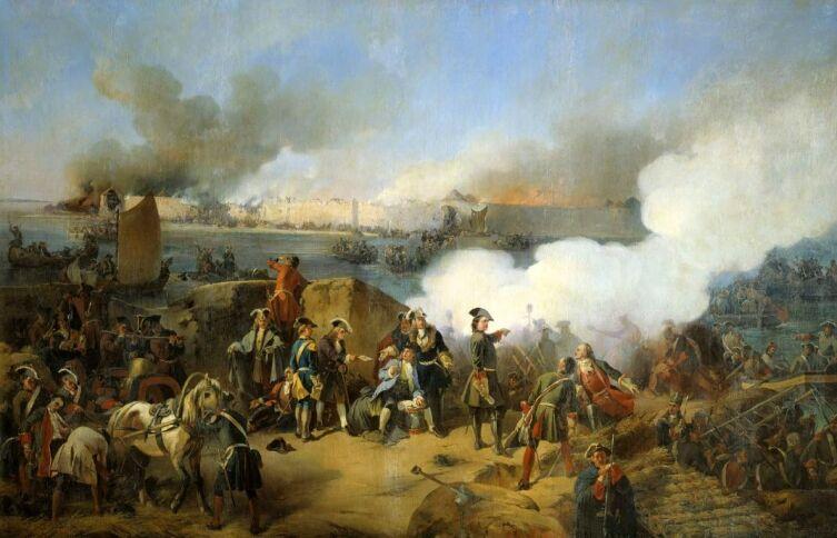 А. Е. Коцебу, «Штурм крепости Нотебург 11 октября 1702 года», 1846 г.