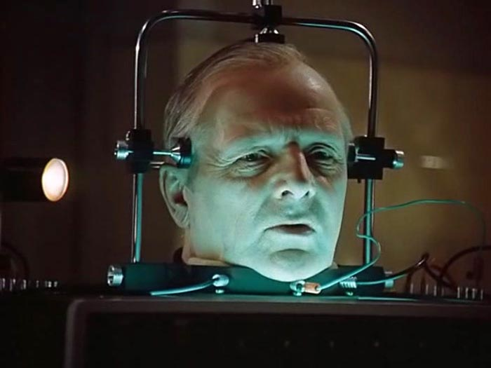 Кадр из к/ф «Завещание профессора Доуэля», 1984 г.