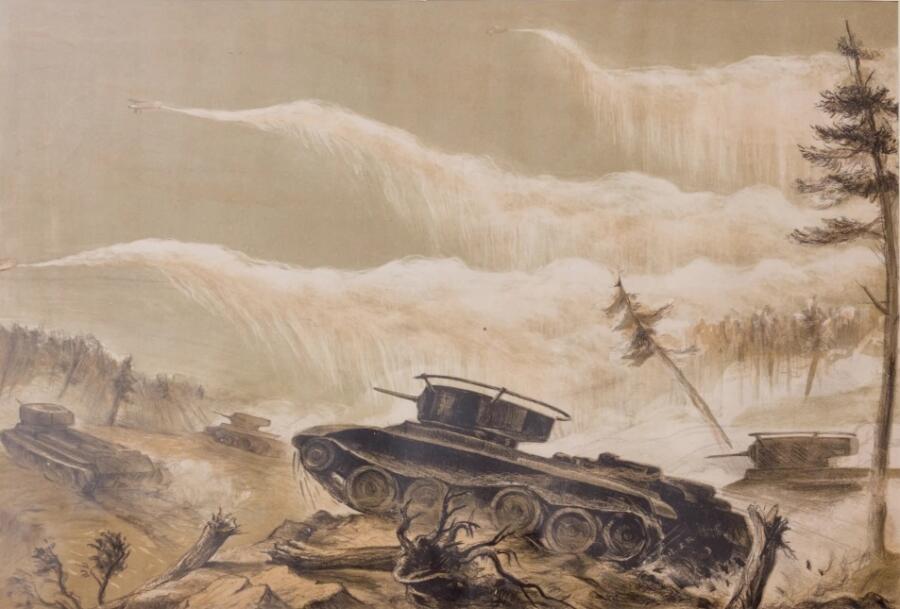 П. Я. Кирпичев, «Танковая атака», 1938 г.