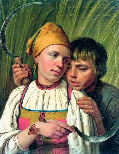 А. Г. Венецианов, «Жнецы», 1820-е гг.