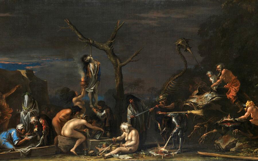 Сальватор Роза, «Ведьмы и их колдовство», 1646 г.