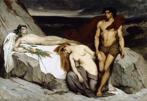 Лоуренс Альма-Тадема, «Смерть Аттилы», 1859 г.
