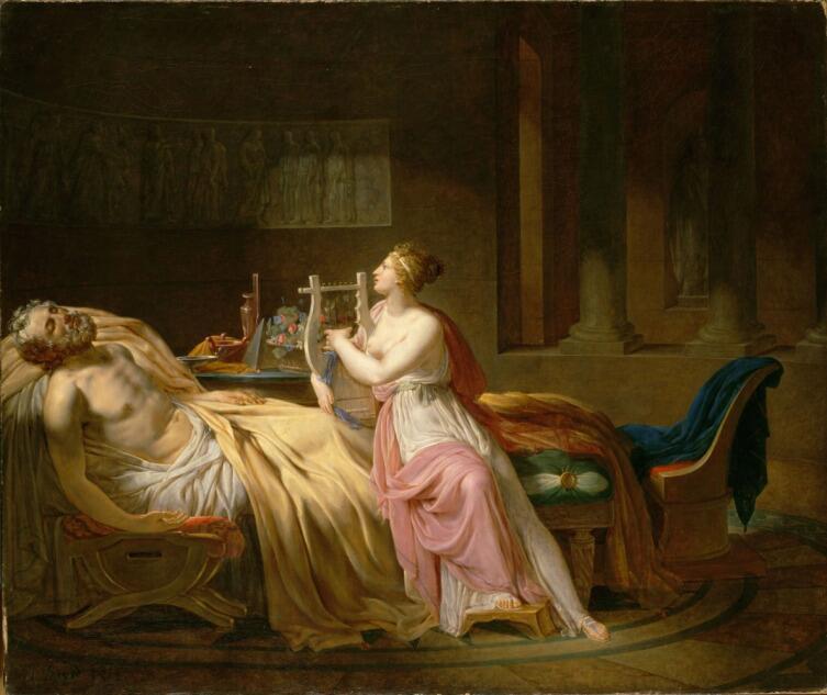 Жак-Луи Давид, «Гомер и Каллиопа», 1812 г.