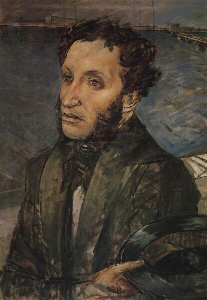 К. С. Петров-Водкин, «Пушкин в Петербурге», 1930-е гг.