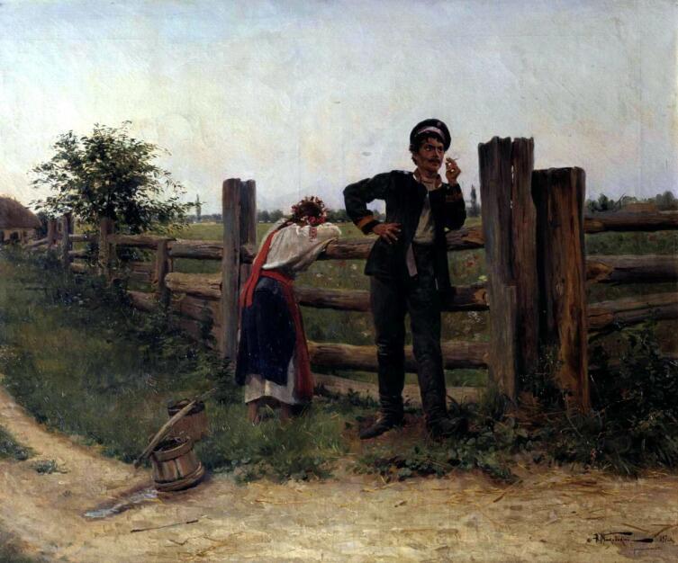 А. В. Маковский, «Надоела», 1897 г.