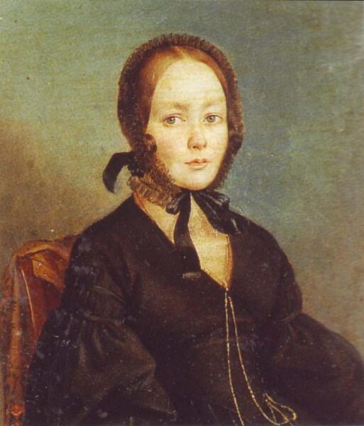 Предполагаемый портрет Анны Керн. Общепринято считать что к ней обращался А. Пушкин в своем стихотворении. 1840-е гг.