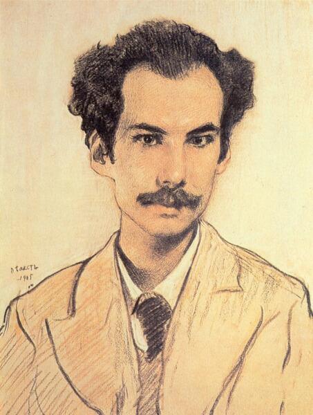 Л. С. Бакст (Леон Бакст), «Портрет писателя Андрея Белого», 1905 г.