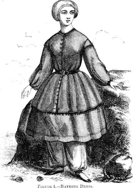 Купальный костюм 1858 г.