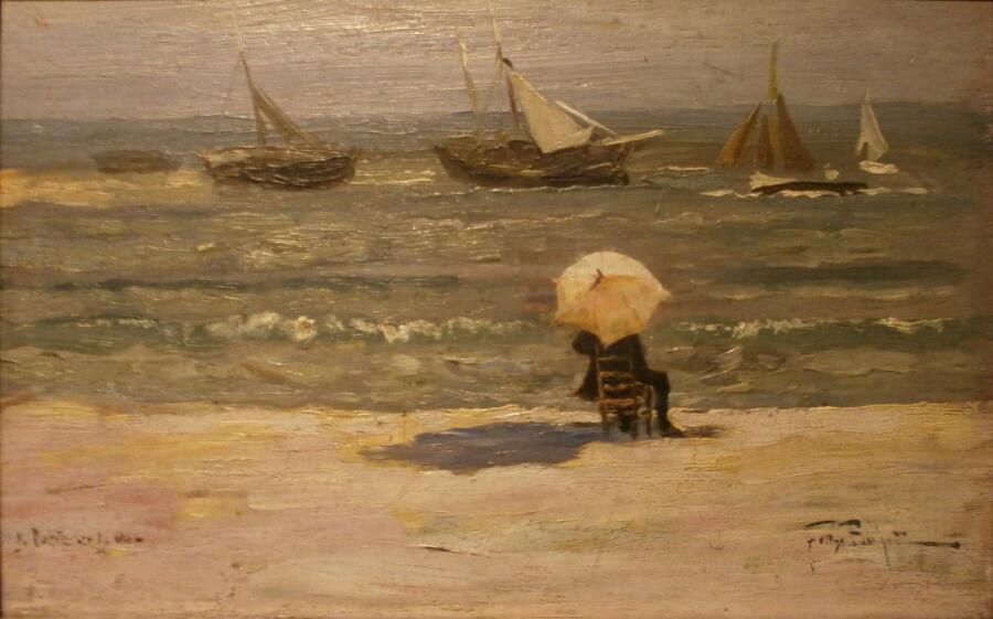 Феликс Бюо, «Поэт и море»,  XIX век