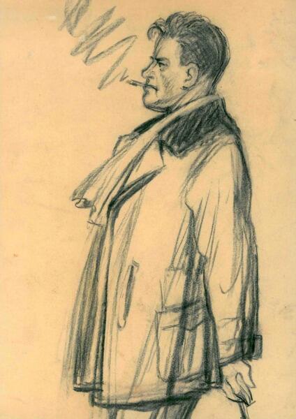 А. М. Нюренберг, «Маяковский»,  1929 г.