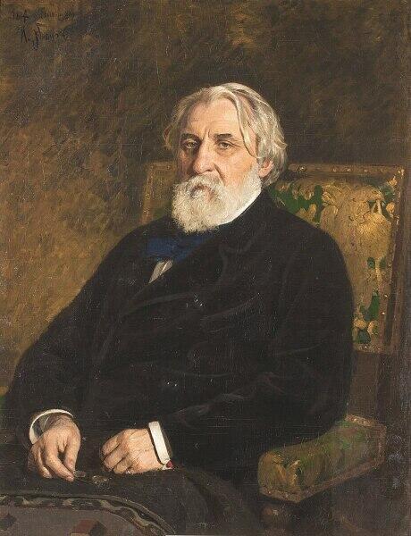 И. Е. Репин, «Иван Сергеевич Тургенев», 1874 г.