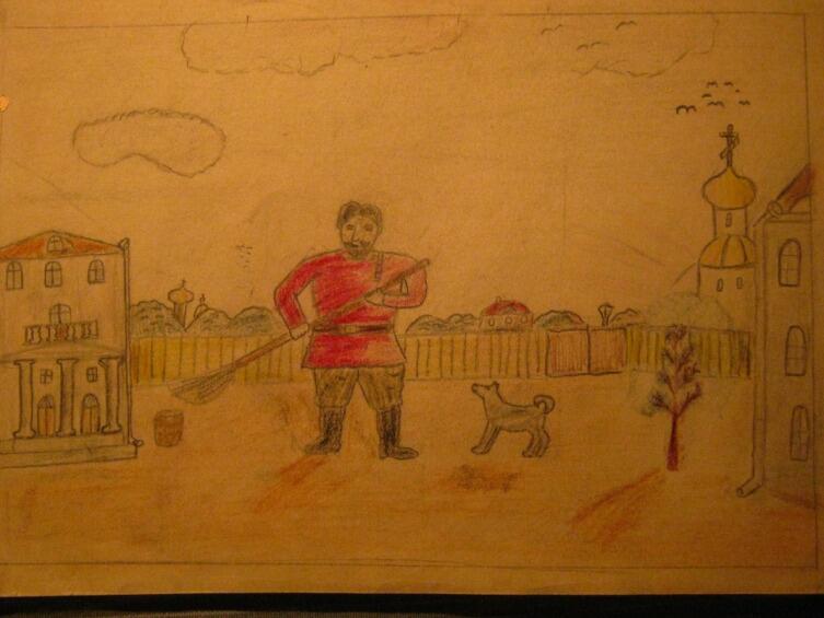 Алексей Гришанков (Alegri), «Герасим и Муму (рисунок сделан автором в возрасте 10 лет)», XX век