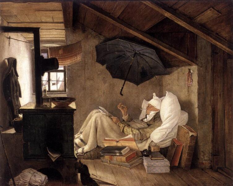 Карл Шпицвег, «Бедный поэт», 1838 г.