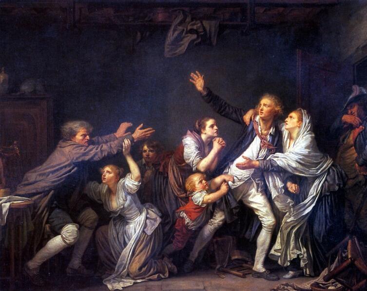Жан-Батист Грёз, «Неблагодарный сын»