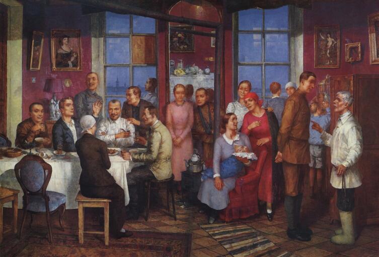 К. С. Петров-Водкин, «Новоселье (Рабочий Петроград)», 1937 г.
