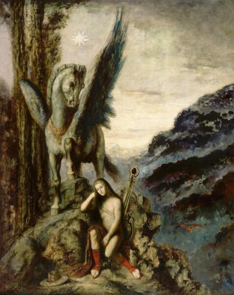 Гюстав Моро, «Странствующий поэт», 1870-е гг.