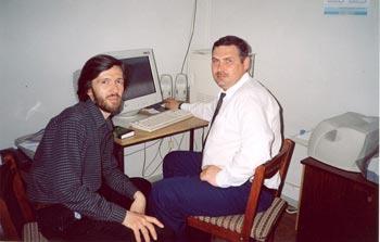 Сергей Курий и Сергей Аксёненко в редакции журнала «Твое Время»