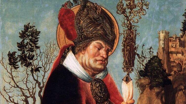 Лукас Кранах Старший, «Святой Валентин с жезлом» (фрагмент), 1503 г.