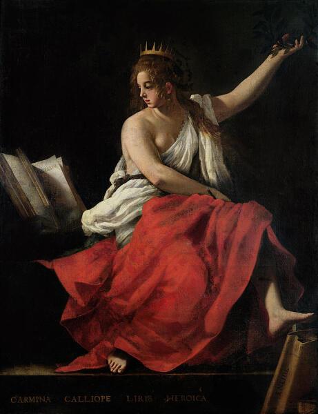 Джованни Бальоне (Баглионе), «Каллиопа, муза эпической поэзии», 1620 г.