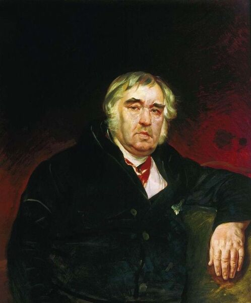 К. П. Брюллов, «Портрет баснописца И. А.Крылова», 1839 г.