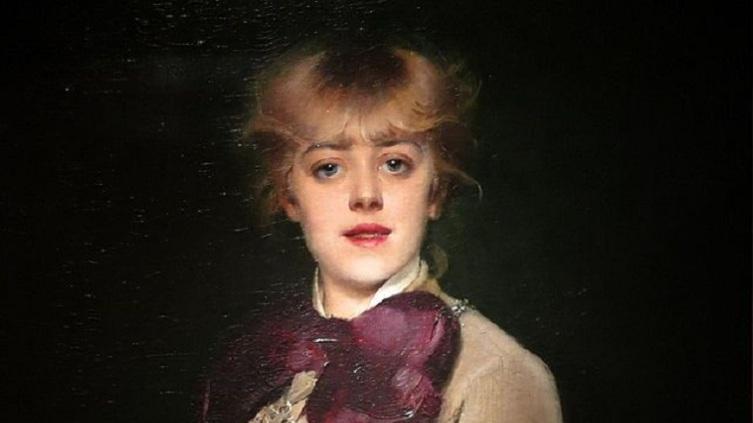 Луиза Аббема, «Портрет Жанны Самари» (фрагмент), 1879 г.